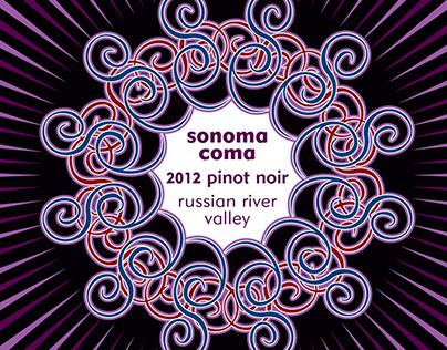 Sonoma Coma wine labels
