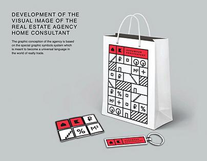 Visual identity of the estate agency (Olsh agency)