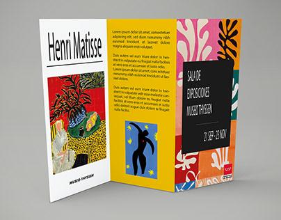 Folleto Z: Exposición Henri Matisse.