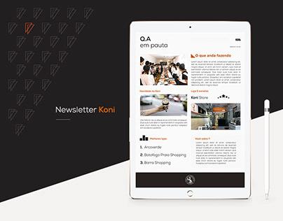 Professional Projects   Newsletter - Koni