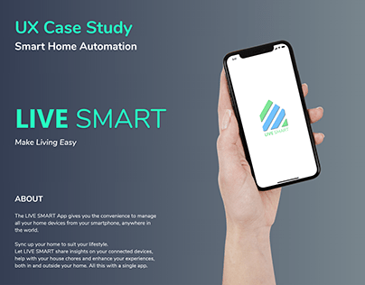 UX Case Study - LIVE SMART Home Automation