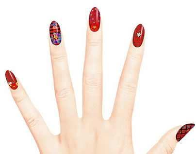 Red strawberry Nails