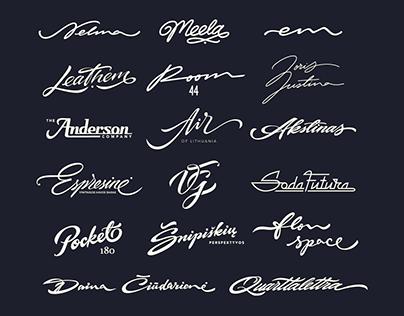 Lettering logo's 2019/2020