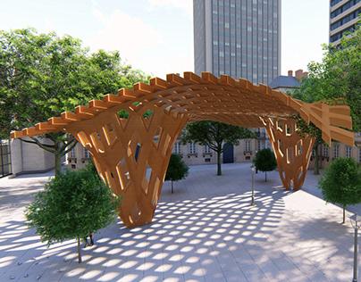 Parametric Waffle Canopy