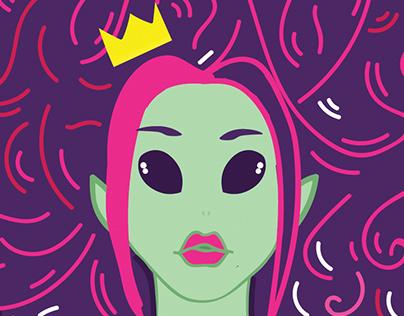 Alien Queen Hair