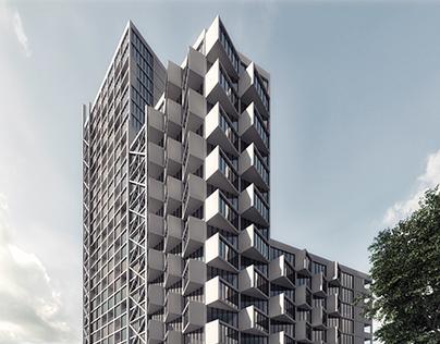 High-rise apartment house