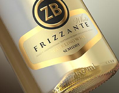 ZB. Sparkling wine. Label design.