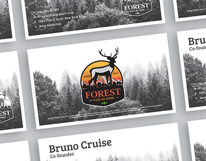 Free Forest Business Card Design