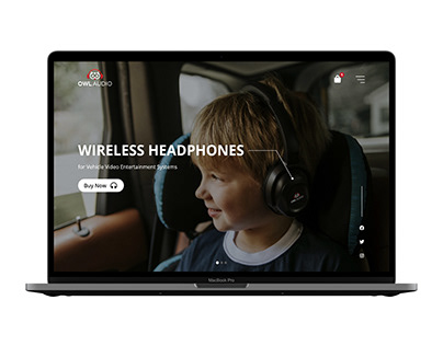 Wireless Headphones Web Design