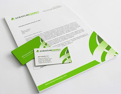 Stationery Branding STRATUM ENERGY