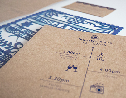 Mexican Style Wedding Stationery