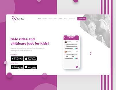 kix Ride lending Page (texi app)