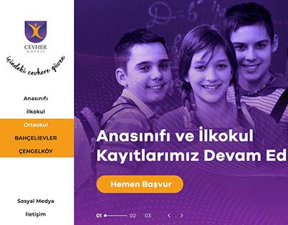 Cevher Koleji Index Tasarımı