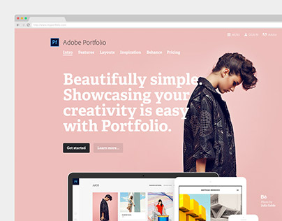 Adobe Portfolio marketing site