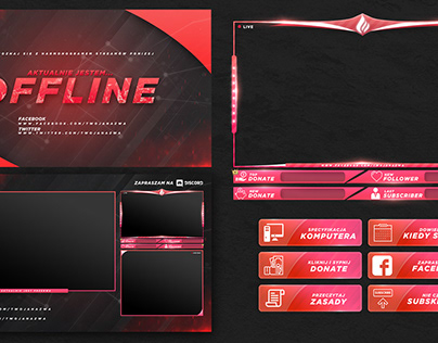 FREE TWITCH STREAM OVERLAY TEMPLATE 2018