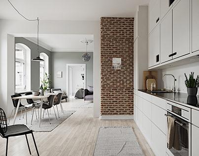 Scandinavian Apartment Study Case