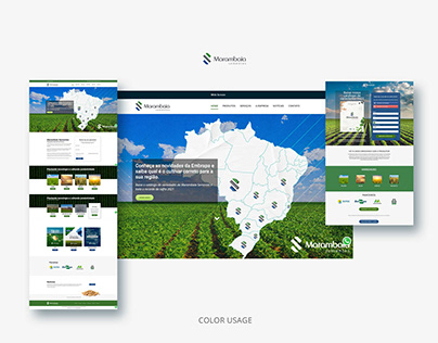 UX and UI Design for Agrobusiness website