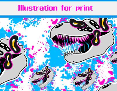 Illustration for print