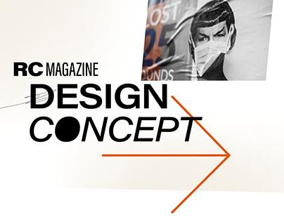 RingCentral Magazine: Web Design Concept