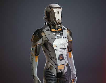 Sci Fi Armor MIU 612 White