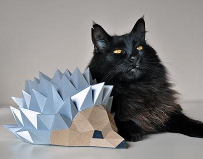 paper hedgehog