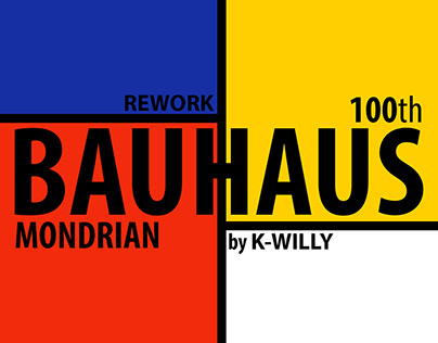 BAUHAUS 100 th mondrian rework