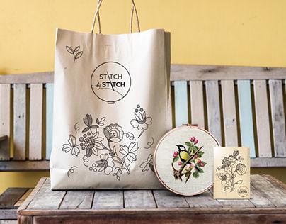 Stitch by stitch brand identity