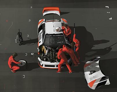 Painting - Audi 90 Quattro IMSA GTO