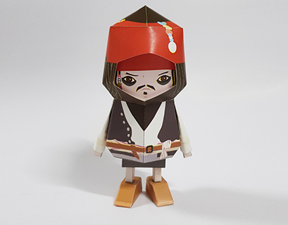 030_Captain Jack Sparrow [Paper Toy Boogie Hood]