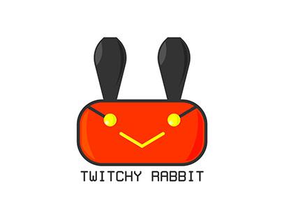 Thirty days logo challenge - Day three- TWITCHY RABBIT