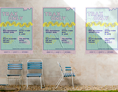 Trax Only Swim Club Poster and Wristband
