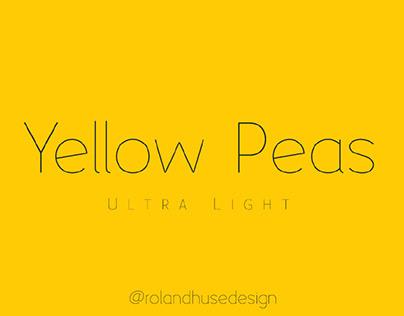 YELLOW PEAS ULTRA LIGHT - FREE GEOMETRIC SANS SERIF