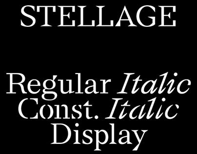 Stellage Typeface