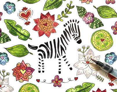 Animal & More Multicolor Illustrations