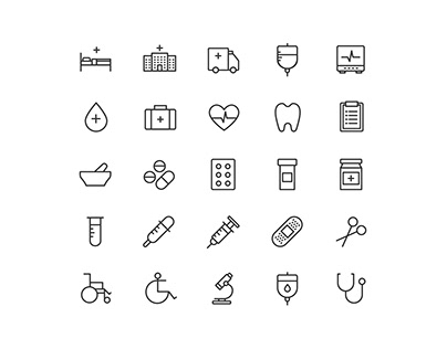 Health and Care Vector Icons