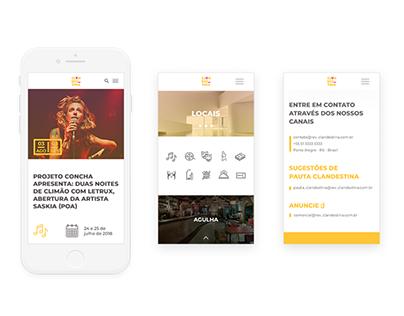 Clandestina portal curadoria & programação cultural