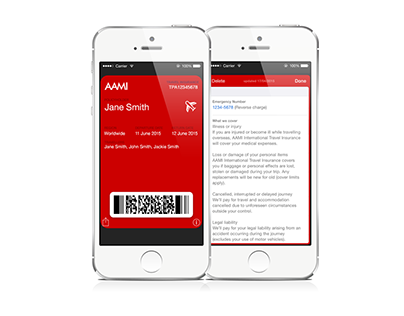 AAMI Apple Wallet Insurance Policy Concept