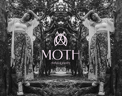 Moth clothes and jewelry brand identity