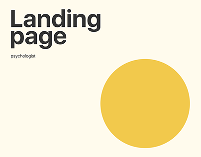 Psychologist/ Landing page