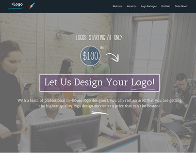 +Logo - We design logos