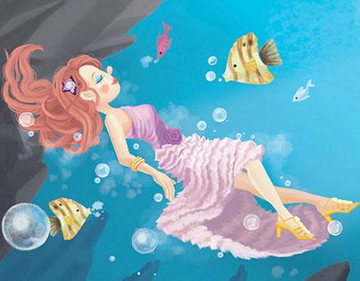 Musical Dwarfs Fairy Tale Illustration Work