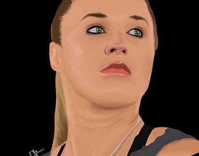Ronda Rousey - Digital Paint