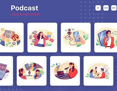 Podcast Illustration Pack