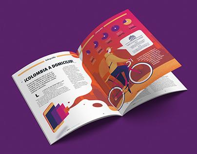 Dinero Magazine Infographics