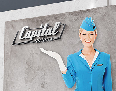 Capital Airlines process book — Graphic design concept
