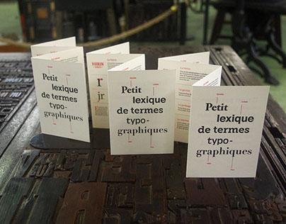 Typographic lexicon