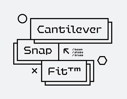 Hexaframe CF | polygonal machined sans serif font