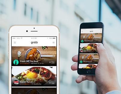 New app design for Grabb