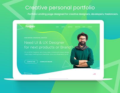 Creative personal portfolio