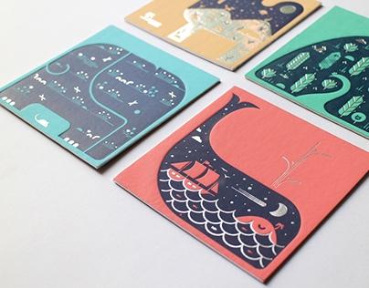Letterpress Coasters - Habitat Series